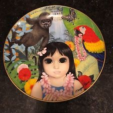 Margaret Keane Penny's Polynesian Paradise Big Eyes Franklin Mint Plate 1991