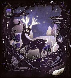 Deer in an indigo forest :)
