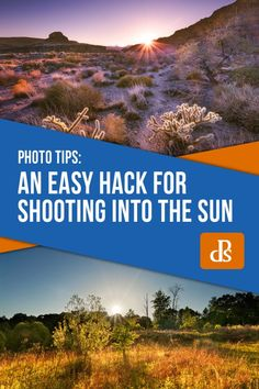 For photographers, shooting into the sun can be hit and miss. Using this hack, you'll get some awesome shots in no time. Landscape Photography Tips, Photography Basics, Photography Tips For Beginners, Scenic Photography, Photography Lessons, Photography And Videography, Aerial Photography, Night Photography, Photography Tutorials