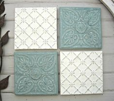 Tin ceiling tile SET  12 x 12 framed tiles.  by DriveInService
