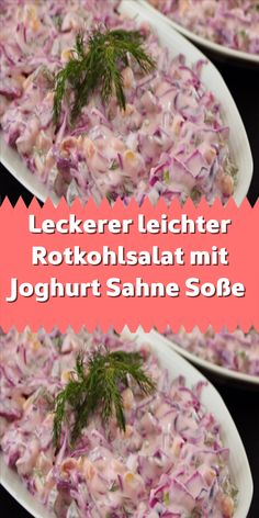 Leckerer leichter Rotkohlsalat mit Joghurt Sahne Soße Light and tasty red cabbage salad that goes perfectly with any main course. It is not difficult at all and, thanks to the yoghurt sauce, it Salad Recipes Healthy Lunch, Salad Recipes For Dinner, Chicken Salad Recipes, Easy Salads, Vegetarian Recipes, Sauce Tartare, Red Cabbage Salad, Clean Eating Salads, Food For A Crowd