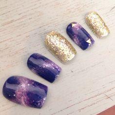 テーマは「宇宙」!夏ネイルはギャラクシーネイルが人気♪|MERY [メリー] Kawaii Nail Art, Galaxy Nails, Nail Inspo, Nails Inspiration, Cute Nails, Purple, Pink, Nail Designs, Hair Beauty