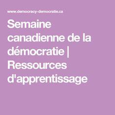 Semaine canadienne de la démocratie | Ressources d'apprentissage Curriculum, Education, Canadian Horse, Learning, Resume, Teaching, Training, Educational Illustrations, Studying