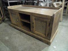 "Rustic Bench or TV Stand  KA104 - $323  43.5""W x 18""D x 19.5""H  #NadeauNashville"