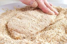 This method of crumbing can be used for chicken or other meat (including fish), or vegetables. Meat Recipes, Real Food Recipes, Chicken Recipes, Cooking Recipes, Dinner Recipes, One Person Meals, Meals For One, Food 52, Diy Food