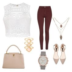 """""""Casual"""" by yesenialeon930 ❤ liked on Polyvore featuring Ally Fashion, Louis Vuitton, Topshop and Monsoon"""