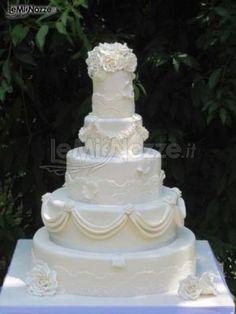 http://www.lemienozze.it/gallerie/torte-nuziali-foto/img29184.html Torta nuziale classica dallo stile total white