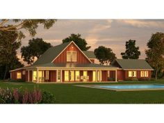 One Story Farmhouse Plans cedar river farmhouse - southern living house plans - love
