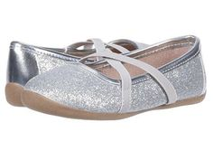 Baby Deer Silver Ankle Strap Girls Mary Jane Dress Shoes Toddler  8 9 10 NIB