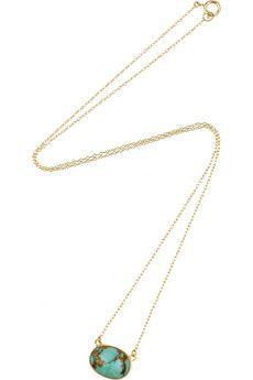 Halleh 18-karat gold turquoise necklace $1235