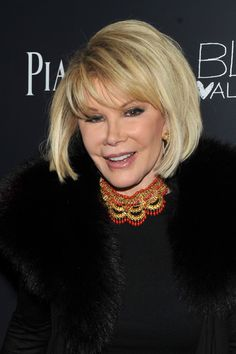Wear it messy, wear it straight.....this bob looks good either way....and Joan is nearly 80!!!