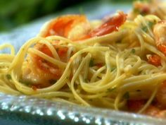 Lemony Shrimp Scampi Pasta Recipe : Melissa d'Arabian : Food Network