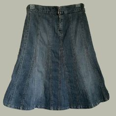 Quallity Size 8 Jean Skirt with Stretch