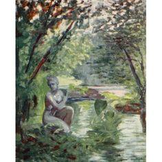 Naples 1904 Venus bath Canvas Art - Augustine Fitzgerald (18 x 24)