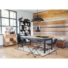 Table rectangulaire indus noire ALFRED / maisonsdumonde.com