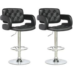 CorLiving Adjustable Height Tufted Black Leatherette Bar Stool (Set of . CorLiving Adjustable Height Tufted Black Leatherette Bar Stool (Set of CorLiving Adjustable Height Tufted Black Leatherette Bar Stool (Set of Bar Stools With Backs, Black Bar Stools, Modern Bar Stools, Upholstered Bar Stools, Swivel Bar Stools, Bar Chairs, Kitchen Stools, Counter Stools, Kitchen Island