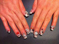 Vegas Themed Nail Art