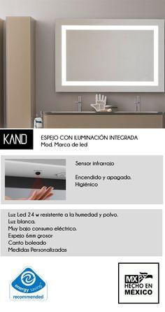Espejo Maquillaje Con Marco De Luz Led Integrada 90x70cm - $ 7,611.00