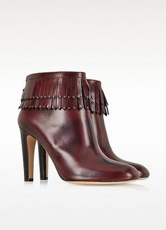 cee75c86fc90 Bottines en cuir à franges - Marc Jacobs Bottines Cuir Marron, Chaussure  Femme Tendance,