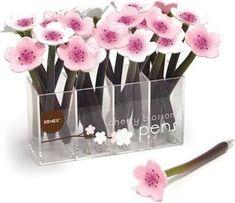Xonex Cherry Blossom Flower Ballpoint Single Pen in Our Choice of Pale Pink or White White Cherry Blossom, Cherry Blossom Flowers, Flower Pens, Cute Pens, Best Pens, Pen Refills, Flower Ball, Calla Lily, Ballpoint Pen
