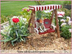 Fairies love summer!  www.wholesalefairygardens.com