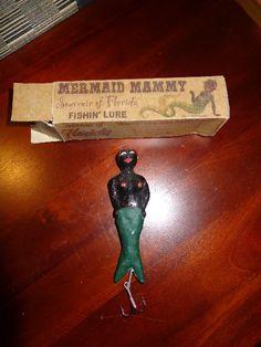 who would've thought - black memorabilia 'mammy' mermaid....  Antique Black Americana Fishing Lure > Mermaid Mammy > ...
