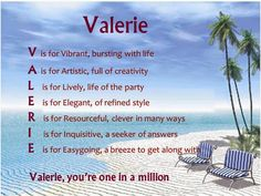 name valerie - Google Search