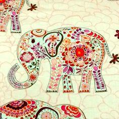 Valori Wells - Elephant/pink - 50cmずつ切売