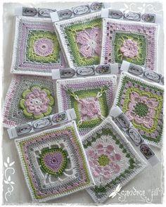 Meine Grannys fürs Großmütterchen  Projekt sind fertig.  Ich hab mal ein paar Muster ausgewählt die ich noch nicht kannte, Anleitungen habe ...