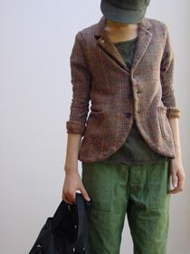 repetto ( FRANCE ) NAROQUIN SAC  / sold out [ KAPITAL ] TWEED JERSEY FARM JACKET  / sold out EG WORKADAY ( N.Y.C. ) REVERSED SATEEN FATIGUE PANT,  from: L'Ecume des Jours, septembre 1, 2014.
