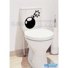 Adesivo de parede decorativos banheiro Bomba