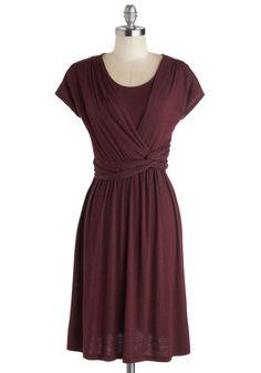 Take It to Art Dress in Burgundy, #ModCloth