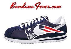 Nike Patriots Cortez Nylon Midnight by BandanaFeverDesigns on Etsy