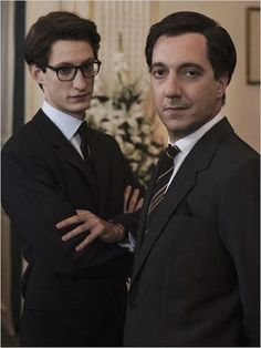 Pierre Niney as Yves Saint Laurent and Guillaume Gallienne as Pierre Bergé in YSL. Saint Laurent 2014, Yves Saint Laurent Film, St Laurent, Ysl, Isla Fisher, Gerard Butler, Keira Knightley, Guillaume Gallienne, French Movies