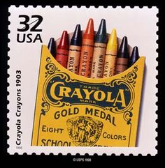 Crayola Crayons .32¢ US Commemorative Stamp: Celebrate the Century, 1900s. Issued February 3, 1998