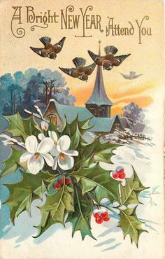 new year card new year wishes new year greetings new year card antique