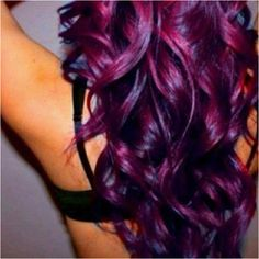 Deep purple/fuchsia/magenta hair color. Inspiration pic for my ombré hair appointment - I want this at the bottom.