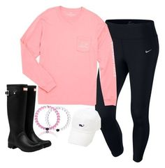 """They have a new pink Lokai bracelet"" by keileeen ❤ liked on featuring Mode, NIKE, Vineyard Vines und Hunter Adrette Outfits, Lazy Day Outfits, Preppy Outfits, Summer Outfits, School Outfits, Preppy Wardrobe, Preppy Clothes, Boot Outfits, Fashion Outfits"