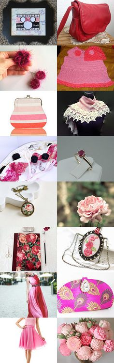 Pink, flowers, rose by olympicbear1 on Etsy--Pinned+with+TreasuryPin.com