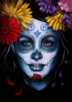Catrina by evolajones on DeviantArt . Catrina by evolajones on DeviantArt - © COPYRIGHT - Day Of The Dead Artwork, Day Of The Dead Mask, Day Of The Dead Skull, Skull Girl Tattoo, Sugar Skull Tattoos, Tatoo Art, La Muerte Tattoo, Catrina Tattoo, Sugar Skull Girl
