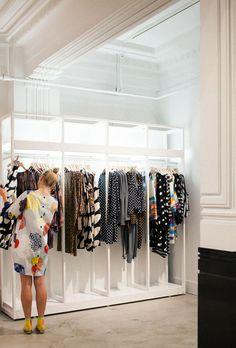 Marimekko · Australian Launch - The Design Files Design Patio, Eco Design, Shop Interior Design, Retail Design, Showroom Design, Design Interiors, Salon Design, Marimekko, Display Design