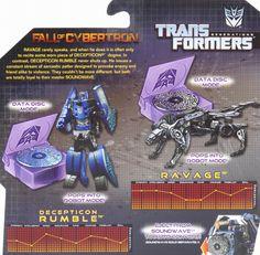 Legends Class Ravage & Decepticon Rumble (Transformers, Generations, Decepticon) | Transformerland.com - Collector's Guide Toy Info
