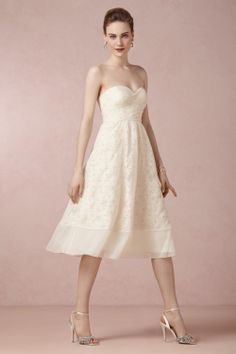 Daisy Dress from BHLDN - this with a filmy lace coverup? Oh yes...