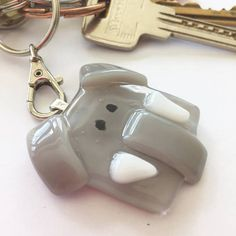 Elephant animal keyring elephant lover gift wild animal gift