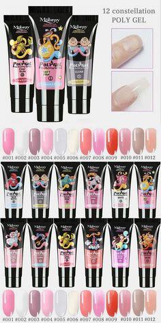 12 Constellation Nail Art Quick Dry Gel LED Clear UV Gel Multicolor Nail Gel Phototherapy Gel Pointy Nails, Gel Nails, Nail Art Set, Disney Nails, Uv Gel, Quick Dry, Constellations, Girly, Online Marketplace