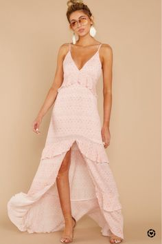 Light Pink Outfit From Bershka Flowy Beach Dress, Dresses For Sale, Summer Dresses, Pink Maxi, Pink Outfits, How To Look Pretty, Dress Up, High Low, Bridesmaid Dress