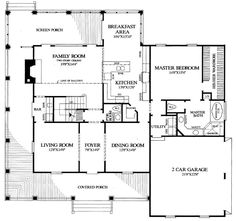 First Floor Plan of Country   Farmhouse  Southern   House Plan 86162