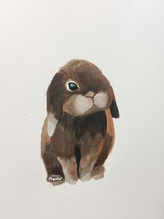 Bunny , acrylic painting