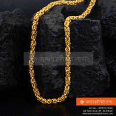 Glittering and Impressive golden chain. Gold Chain Design, Gold Bangles Design, Gold Jewellery Design, Mens Gold Jewelry, Gold Jewelry Simple, Golden Jewelry, Real Gold Chains, Gold Chains For Men, Jewels