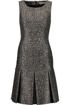 Michael Kors Metallic Herringbone Pleated Dress In Black Chic Outfits, Dress Outfits, Fashion Outfits, Lovely Dresses, Dresses For Work, Formal Dresses, African Fashion Dresses, African Dress, Look Fashion